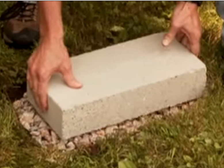 how to build a shed foundation with deck blocks